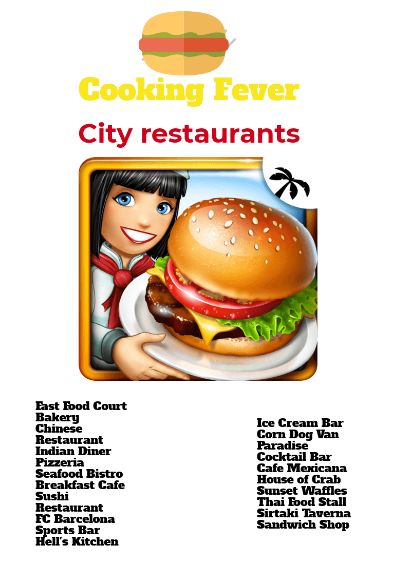 Cooking Fever Guides For Restaurants