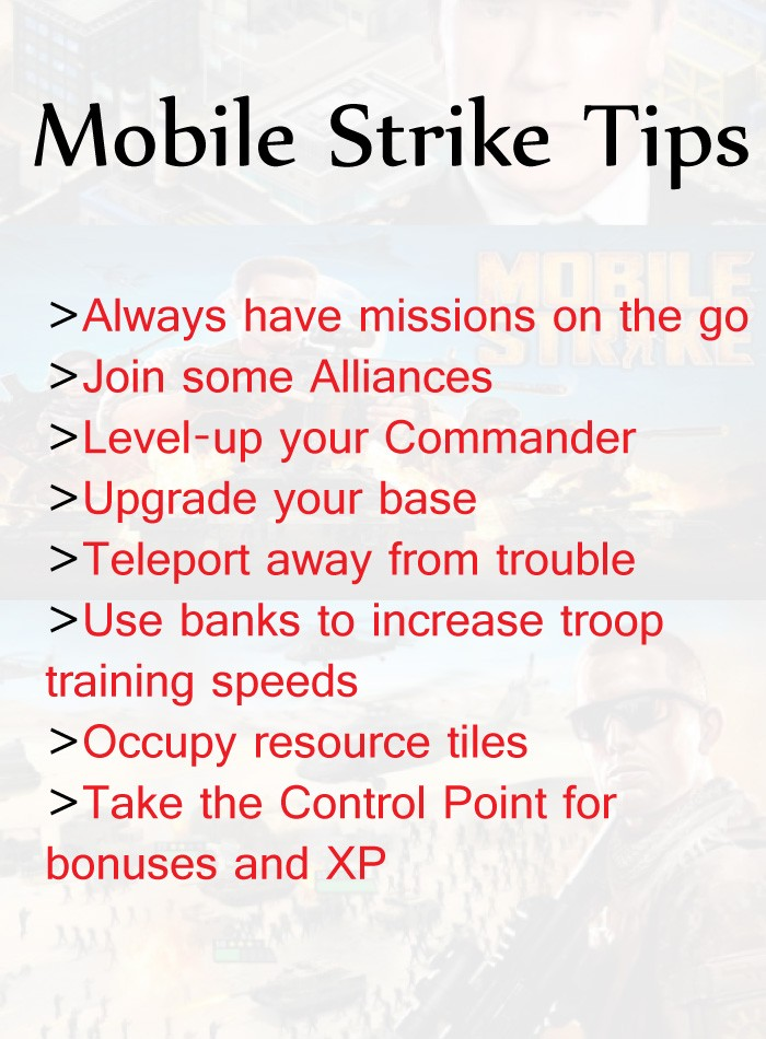 mobile strike tips